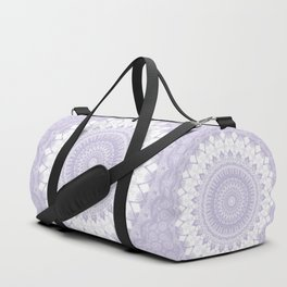 Boho Pastel Purple Mandala Duffle Bag
