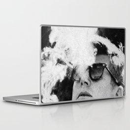Cigar Smoker Cigar Lover JFK Gifts Black And White Photo Laptop & iPad Skin