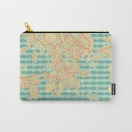 Helsinki Map Retro Carry-All Pouch