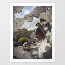 08th ms team: secret love of two enemies Art Print