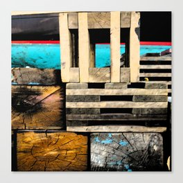 Wharf Abstract 1 Canvas Print