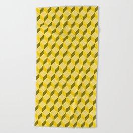 staircase pattern Beach Towel