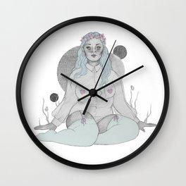 soft grey Wall Clock