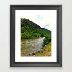 Down Stream Framed Art Print