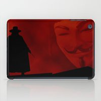 vendetta iPad Cases featuring V for Vendetta (e3) by Ezgi Kaya