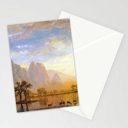 Albert Bierstadt Valley of the Yosemite Stationery Cards