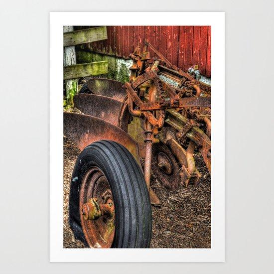 'Old Plow' Art Print