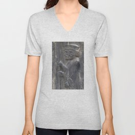Warriors of Persian empire in Persepolis - The age of Cyrus the Great Unisex V-Neck
