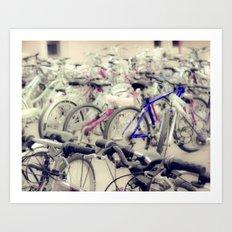 Band of Bikes Art Print