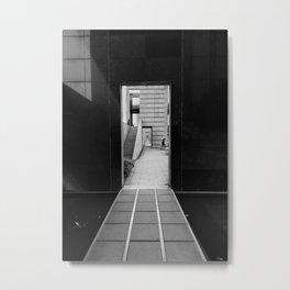 Infinite Door - B&W Metal Print