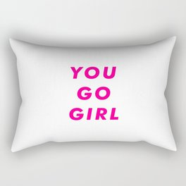 You Go Girl Aesthetic Rectangular Pillow