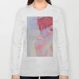 Untitled psychedelic girl drawing Long Sleeve T-shirt