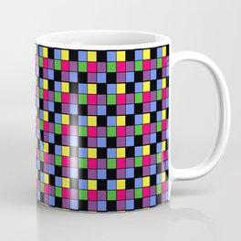 Disco Lights Blocks, Checkered Pattern - Pastel Colors Coffee Mug