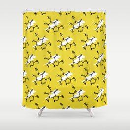 Struck by Caffeine Shower Curtain