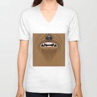 chewbacca V-neck T-shirts featuring Chewbacca - Starwars by Alex Patterson AKA frigopie76