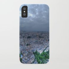 Nighttime in Paris iPhone X Slim Case