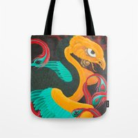 suits Tote Bags featuring Phoenix Suits by SADOstyle