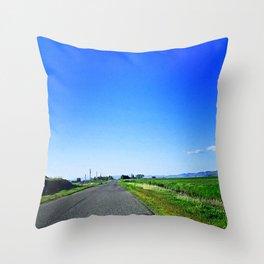 Summer Road Throw Pillow