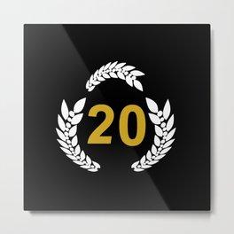 20 laurel wreath, anniversary 20, give 20th birthday Metal Print