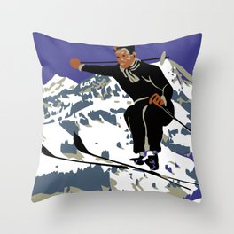 Winter in Zweisimmen Schweiz Throw Pillow