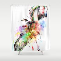sketch Shower Curtains featuring cool sketch 120 by Cool-Sketch-Len