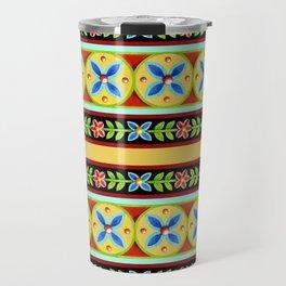 Elizabethan Folkloric Stripe Travel Mug