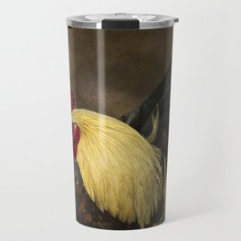 Rooster with a Blond Mane Travel Mug