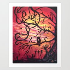 Darkness Comes by Veron Ramsawak Art Print