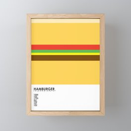 Pantone Food - Hamburger Framed Mini Art Print