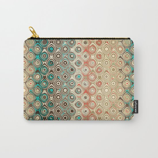 Retro Circles Pattern Carry-All Pouch