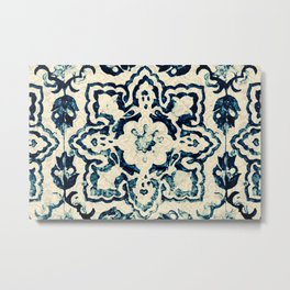 Azulejo II - Portuguese hand painted tiles Metal Print