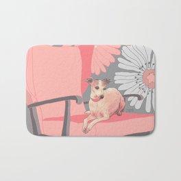 Dog in a chair #3 Italian Greyhound Bath Mat