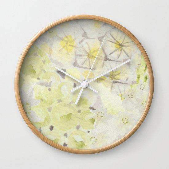 Lemon Abstract Wall Clock