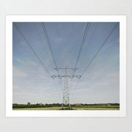 Electric Summer Art Print