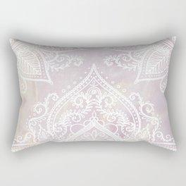 MANDALA ON PINK MARBLE Rectangular Pillow