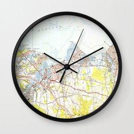 Keyport, Union Beach & Keansburg NJ Map (1954) Wall Clock