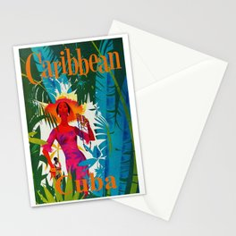 Vintage Caribbean Travel - Cuba Stationery Cards