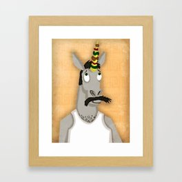 Kabob Unicorn Framed Art Print
