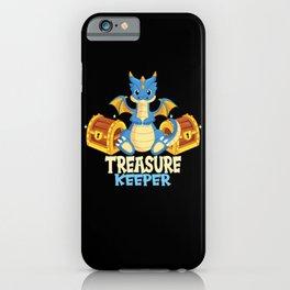 Treasure Keeper I Children Dragon Treasure Guard iPhone Case
