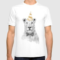Get the party started (color) White X-LARGE Mens Fitted Tee