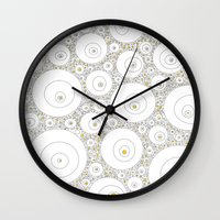 eggs Wall Clocks featuring Eggs by Alisa Galitsyna