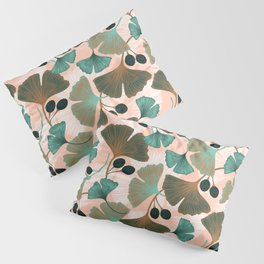 Ginkgo leaves and berries seamless pattern Pillow Sham