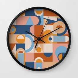 Geometric Block and Arches Wall Clock