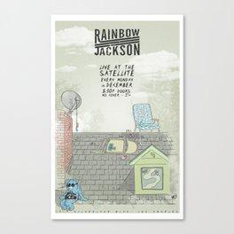 Rock Poster - Rainbow Jackson Canvas Print