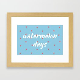 Watermelon Days Framed Art Print