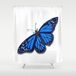Blue Monarch Butterfly Shower Curtain