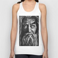 gandalf Tank Tops featuring Gandalf by spiderdave7