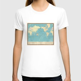 Vintage Map of The World (1845) T-shirt