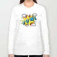 superheroes Long Sleeve T-shirts featuring superheroes by mark ashkenazi