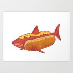Mustard shark Art Print